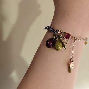 Grapes hanging style golden uniqur bracelet